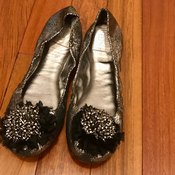 Sale Tory Burch embellished ballerina worn once.